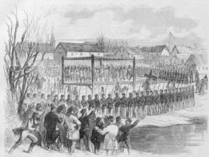 The Mass Execution in Mankato [Harper's Weekly, January 1863]